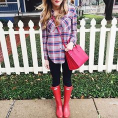 Plaid & red. Perfect for fall!!
