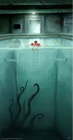By Marcel Baumann. This is how I feel when I'm swimming...