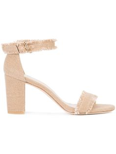 Shop Stuart Weitzman Frayed sandals.