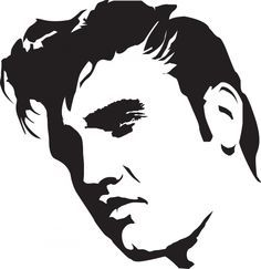Elvis Presley stencil template