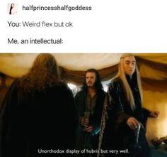 Lord of the Rings/The Hobbit. Weird flex but okay. Cute Jokes, Funny Jokes, Hilarious, Fandoms, Johnlock, Destiel, O Hobbit, Hobbit Funny, Thranduil