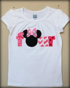 MINNIE MOUSE  Birthday Age Shirt Pretty in Pinks by Xannazoo, $24.00