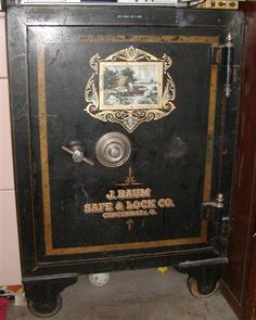 Viewing a thread - Does anyone collect antique Safes ? Antique Safe, Safe Door, Secret Bar, Safe Vault, Vault Doors, Smart Door Locks, Under Lock And Key, Sewing Cabinet, Secret Rooms