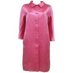Balenciaga hot pink raw silk evening coat, c. 1963
