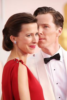 Every time they snuck in a nuzzle on the red carpet. | 15 Times Benedict Cumberbatch And Sophie Hunter Ruled The Red Carpet
