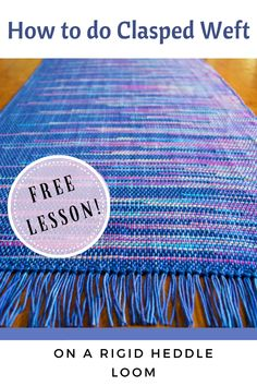 What is clasped weft? Can I weave it on my rigid heddle loom? Find the answers to these questions and more! Includes a free video lesson!  #claspedweft #rigidheddleweaving #learntoweave #kellycasanovaweavinglessons Weaving Projects, Weaving Patterns, Loom Weaving, Household Items, Weave, Tapestry, Etsy Shop, Crafts, Free