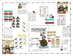 Pirate ELA and Math Stations