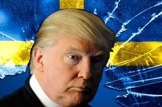 A Swedish website teases the world's most famous comb-over for continuing to peddle his grandfather's fake origin story.