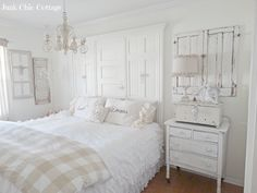 Junk Chic Cottage: Cream and White Guest Room
