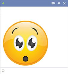 If a comment on Facebook has you feeling caught off guard, you can post this smiley in response.