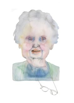 Artist Alice Moloney spent a week with the residents of Newent House, an elderly day center situated in a suburb of London. Watercolor Portraits, Watercolor Art, Beautiful Sketches, Graphic Design Illustration, Illustration Styles, Interesting Faces, Art Sketchbook, Painting & Drawing, Amazing Art