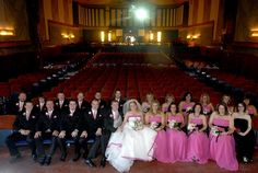 Front Row Wedding Party - James & Melody at the Campus Theatre