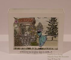Stampin' Up! Bright Wishes, Lovely as a Tree, Beautiful You, High Tide (for the birds) diorama card