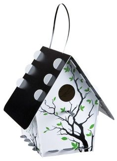 Eco Gifts   Recycled Plastic Bird Houses   Recycled Plastic Bird House- Branch White   Green Toys, Gifts & Party Supplies at Green Party Goods