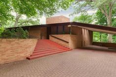Olfelt house in Minneapolis, designed by Frank Lloyd Wright, 1958 and completed after his death in 1960.