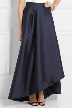 c0b9262890 Alberta Ferretti - Pleated wrap-effect taffeta maxi skirt