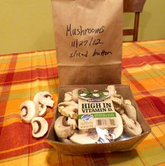 Love mushrooms?  Keep them fresh! Simple and easy to do!