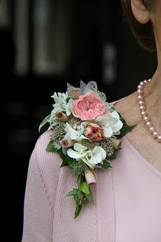 Flower Design Events: Groom's Mum's Pink Corsage