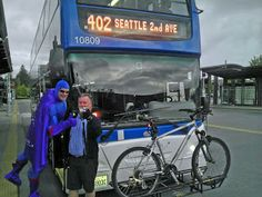 You can bring your bike with you when you ride Snohomish County Community Transit's double decker bus.