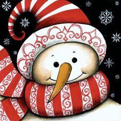 peinture de bonhomme de neige - Recherche Google