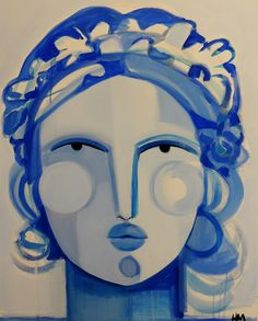 Hayley Mitchell's cubist-inspired faces