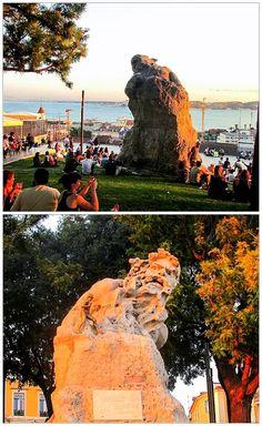 Miradouro de Santa Catarina [escultura do Adamastor] – Lisboa
