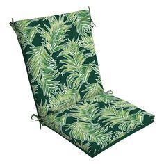 tropical paradise squared corners outdoor chair cushion blue rh pinterest com