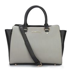 1f808a25a751 Michael Kors Outlet Selma Top-Zip Large Grey Satchels -Michael Kors factory  outlet online sale now up to off!