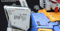 Ghost is back with his fresh work on the old kit PG First Gundam by Ghost recently appeared on modelers-g. A high detailed wor. Custom Gundam, Gunpla Custom, Frame Arms, Character Modeling, Gundam Model, Mobile Suit, Art Model, Model Building, Custom Paint