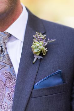 Teal Photograph; Rustic Backyard Harrisburg Wedding from Teal Photography - boutonniere idea