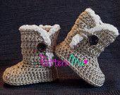 Crochet Baby Bootie Pattern #3