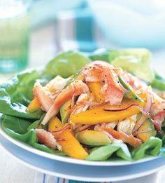 insalata di mango, avocado e granchio | antipasto