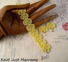 Spring Has Sprung Beaded Micro Macrame - Year of Jewelry Week 12