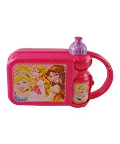 This Princess Lunch Box & Water Bottle by Disney is perfect! #zulilyfinds