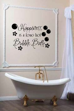 wash away your troubles bathroom quote vinyl wall art decal sticker