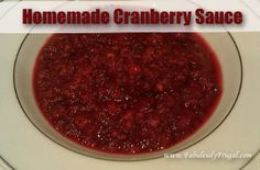 I am not sure why people like canned cranberries. I much prefer homemade cranberry sauce and this recipe is so easy!