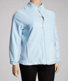 This Light Blue Fleece Jacket - Plus is perfect! #zulilyfinds