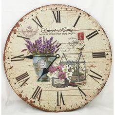 """Found it at Wayfair - 13.38"""" Flower Clock"""