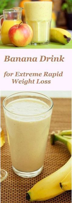 Banana Drink for Extreme Rapid Weight Loss is part of Weight loss smoothies - Want to get rid of several pounds of excess tummy that make you big and fat Start once a day to drink this delicious banana smoothie! Smoothies Banane, Healthy Smoothies, Healthy Drinks, Banana Smoothies, Healthy Snacks, Green Smoothies, Healthy Eating, Healthy Juices, Healthy Protein
