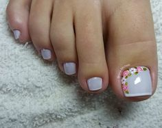 180 eye catching toe nail art ideas you must try page 57 Hair And Nails, My Nails, Pretty Toe Nails, American Nails, Nail Brushes, Toe Nail Designs, Halloween Nail Art, Pedicure Nails, Toe Nail Art