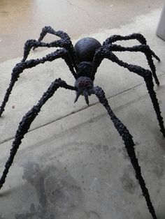 Huge Halloween Spider made with PVC that comes apart for easy storage