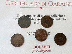 Lotto 5 monete 2 centesimi del 1861,1867,1898,1900 regno d'Italia originali
