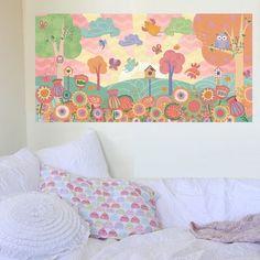 Peel and Stick Flower Garden Mural