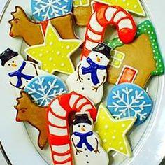 Biscoitos de Natal (massa de cream cheese) @ allrecipes.com.br