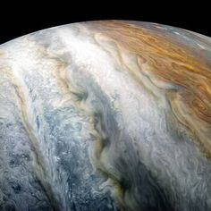 The rich, colorful tapestry of Jupiter's southern hemisphere abound with vibrant cloud bands and storms was beheld by our Juno (@NasaJuno) spacecraft from 8,453 miles above during its tenth close flyby of the giant planet on Dec. 16, 2017. The dark region in the far left is called the South Temperate Belt. Intersecting the belt is a ghost-like feature of slithering white clouds, the largest feature in Jupiter's low latitudes. Citizen scientist Kevin M. Gill processed this image using data…