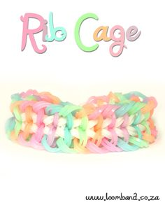 Rib Cage Loom Band Bracelet Tutorial, instructions and videos on hundreds of loom band designs. Shop online for all your looming supplies, delivery anywhere in SA.