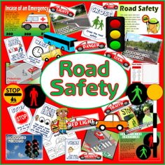 CD Road Safety Teaching Resources Role Play Child Minder Display EYFS KS for sale online Road Safety Slogans, Road Safety Poster, Safety Posters, Eyfs Activities, Sequencing Activities, Save Water Poster Drawing, Life Skills Lessons, School Displays, In Case Of Emergency