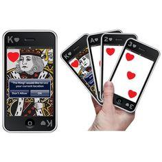 Quer apimentar sua próxima noite de poker? Que tal esse baralho com design iPhone? $39,00  http://gifyts.com.br/site/baralho-iphone.html