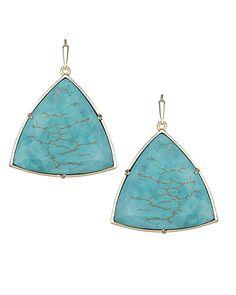 Nikki Drop Earrings in Turquoise Magnesite - Kendra Scott Jewelry. Coming April 15!