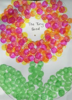 The Tiny Seed by Eric Carle. Tiny Seed craft to celebrate Eric Carle's birthday!